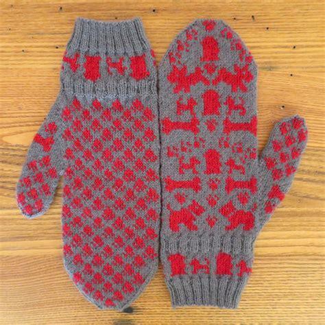english knitting pattern for mittens dog days mittens allfreeknitting com