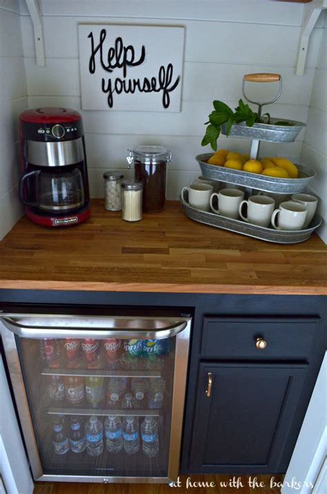 Diy Mini Bar Cabinet Diy Beverage Bar At Home With The Barkers