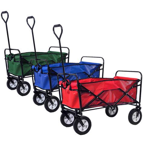 folding collapsible utility wagon garden cart shopping