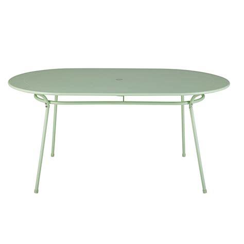 tavolo 6 persone tavolo da giardino ovale in metallo verde chiaro 6 persone