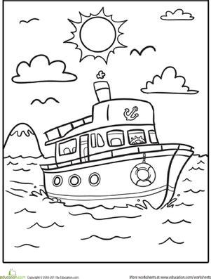 dessin d un bateau sur l eau boat coloring page bateaux coloriage et eaux