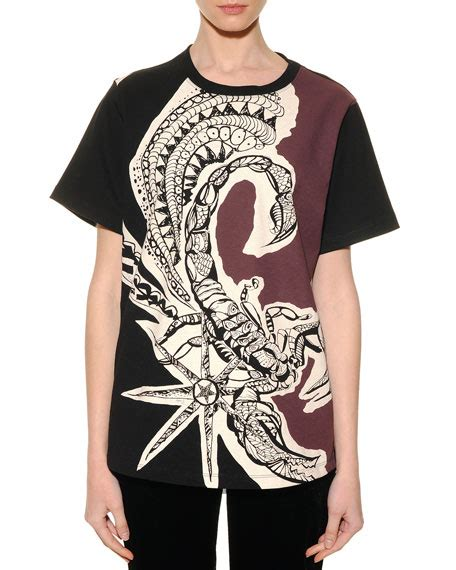 Emilio Pucci Roscone Print T Back Top It Or It by Emilio Pucci Scorpio Graphic Print Sheer Back T Shirt