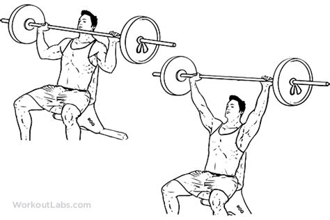 one arm barbell bench press barbell shoulder press overhead press workoutlabs