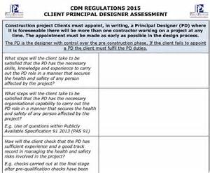 Contractor Risk Assessment Template by Cdm Regulations 2015 Pd Assessment Template Pp