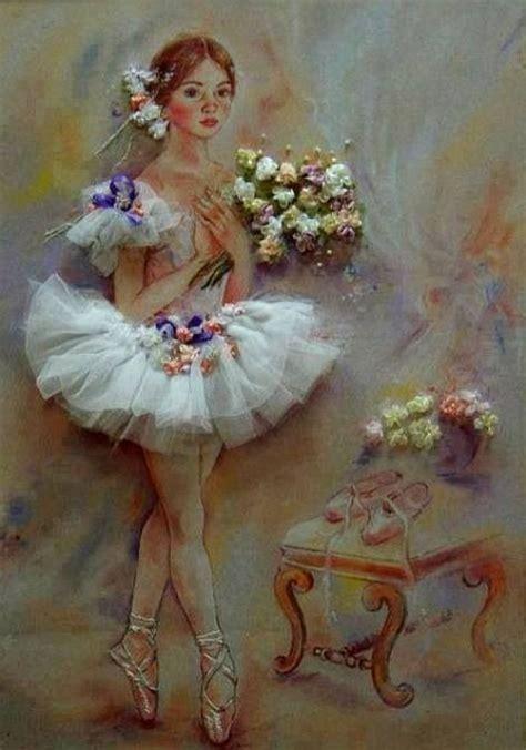 ribbon embroidery flower garden ballerina embroidery ribbon embroidery