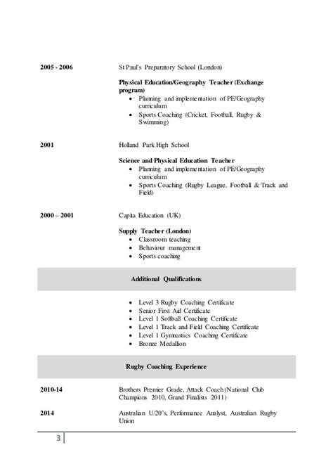 Resume Examples Qualifications by Cv Carl Marshall