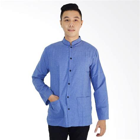 fashion men toko baju pria online shop fashion terupdate jual jfashion yusuf baju koko pria tangan panjang biru
