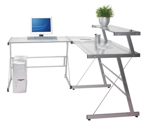 Glass Desk Office Depot Modern Office Desks Glass Home Design Ideas