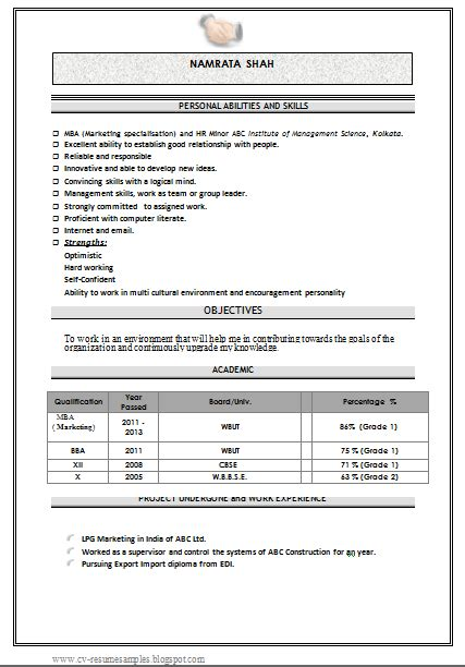 mba fresher resume format doc inspirational mba resume template in