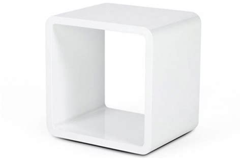 table de nuit cube chevet design cube blanc laqu 233 tables de chevets pas cher