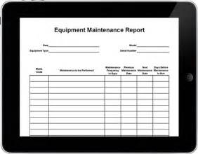 machine maintenance log template equipment maintenance log book