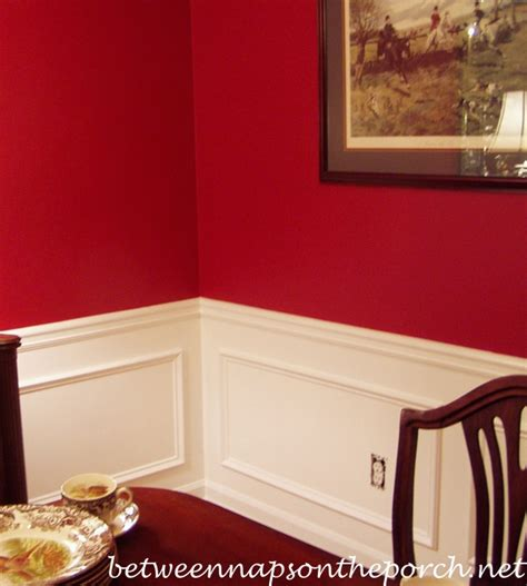 how to paint chair rail dining room upgrade add picture molding beneath a chair rail