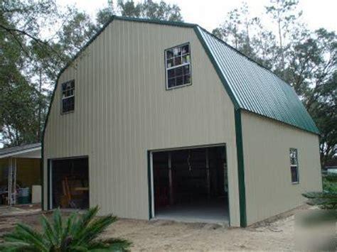 steel metal  story building home gambrel roof