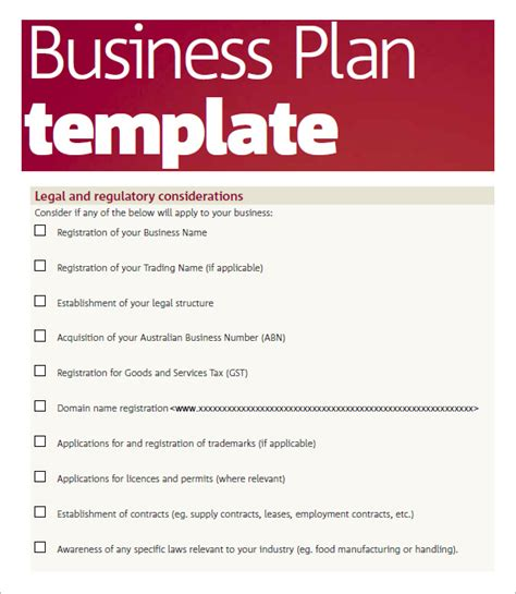 business plan templates free business plan template pdf free business template