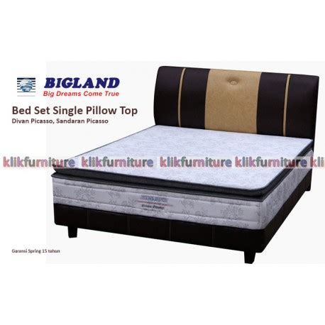 Bed Guhdo Single single pillow top bigland springbed garansi termurah