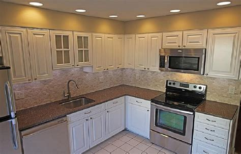 How To Remodel Kitchen Cabinets Cheap by Cheap Kitchen Remodel White Cabinets Kitchen Remodel