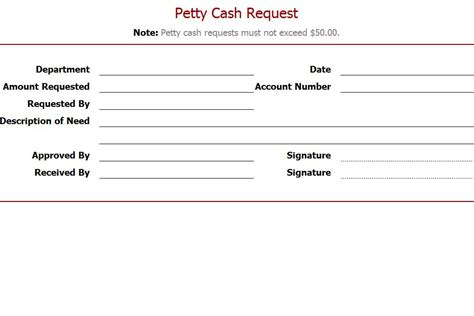 Money Request Letter Exle Petty Request Template Petty Request Form Template