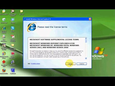 installing xp on windows 8 how to install internet explorer 8 windows xp youtube
