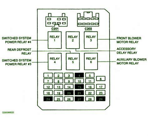 2001 ford windstar fuse box diagram 2001 ford windstar inside fuse box diagram circuit