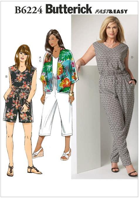 Kimono Pattern Butterick | butterick 6224 sewing pattern womens kimono and jumpsuit