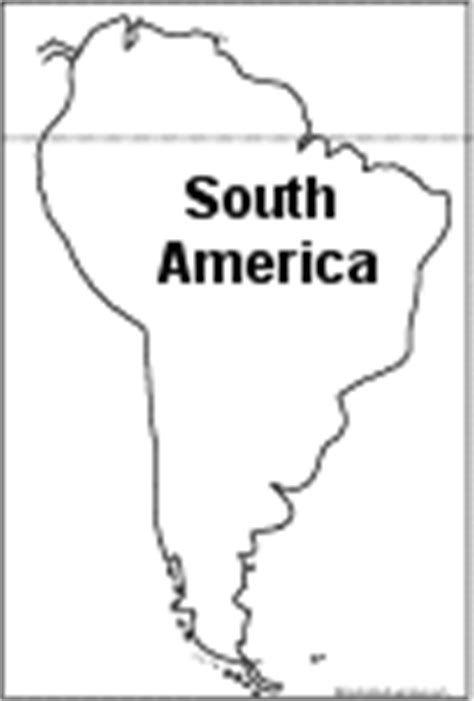 South America Country Outlines by South America Enchantedlearning