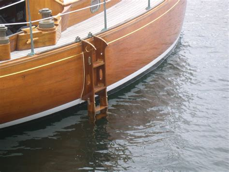 wooden boat ladder hardware swim ladder anybody have a great one