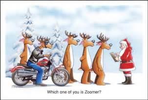 Harley davidson christmas cards who is zoomer reindeer on harley