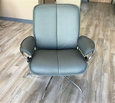 low back recliners stressless city low back batick grey chrome base leather