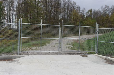 chain link swing gate strauss fence company new concord ohio chain link gates
