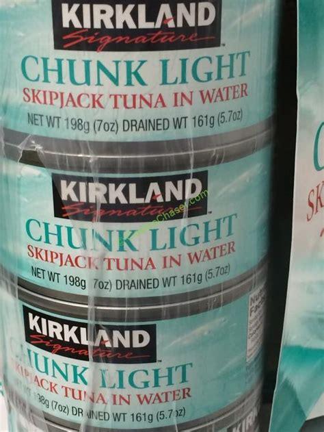 chunk light tuna mercury kirkland signature chunk light tuna 12 7 ounce cans