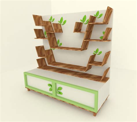 free standing shelf designs