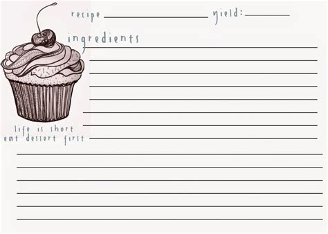 cupcake recipe card template 519 best images about printable stuff on