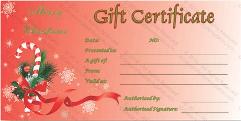 gift certificate template christmas gift certificate template gift certificate template