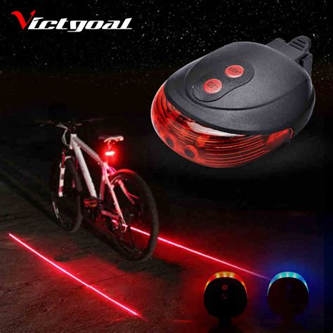 Victgoal Bicycle Light 2 Lasers Night Cycling Mountain Lights Next