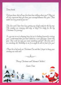 Christmas Letter To Santa Template Gallery For Gt Christmas Letter Template From Santa