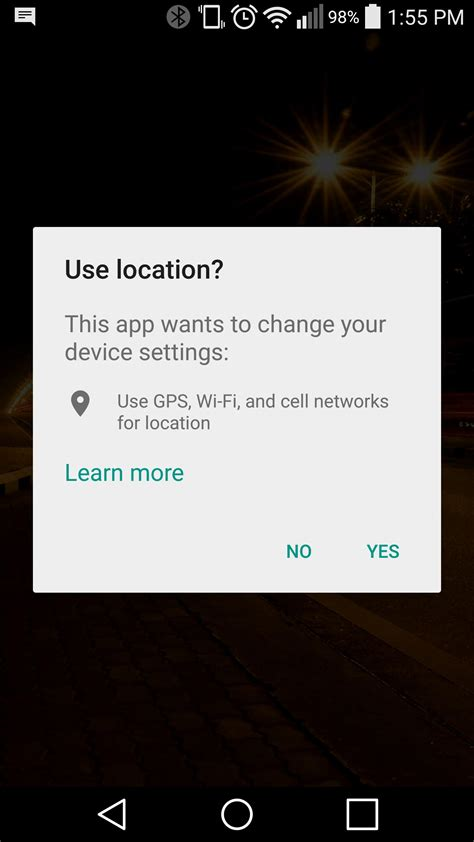 turn on location services android android enable location settings programatically with out leaving app or going to settings
