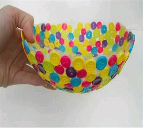cara membuat kerajinan tangan handmade cara mangkuk dari kancing baju pemanfaatan barang bekas