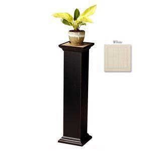 White Pedestal Plant Stand flagstaff pedestal plant stand finish white size 36 quot telephone stands