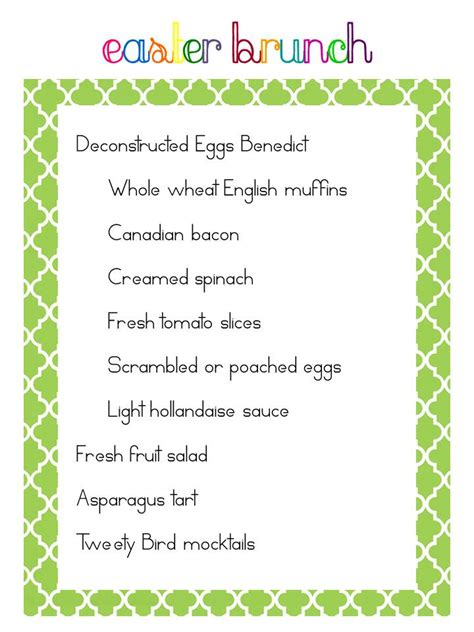 easter brunch buffet menu ideas easter brunch menu ideas