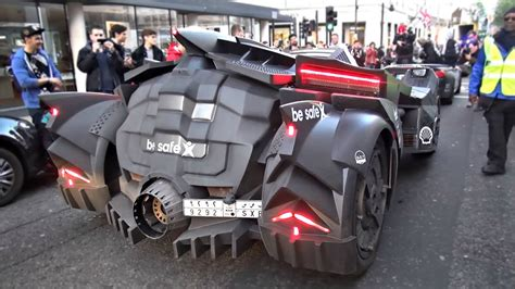 lamborghini engine in car batmobile on gumball3000 with lamborghini engine