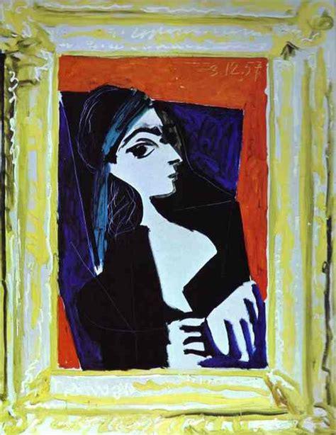 picasso paintings of jacqueline pablo picasso jacqueline rocque 1957