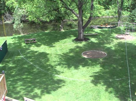 backyard wiffle ball field riley field a backyard wiffle ball stadium youtube