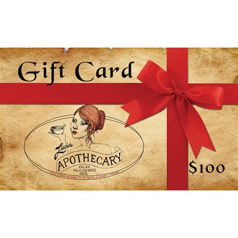 100 Gift Cards - lucie s apothecary 100 gift card
