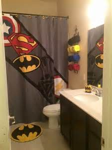 superman bathroom decor shower curtains and heroes on