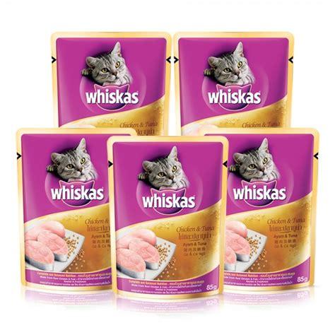 Cat 85 Gr Cat Tuna And Chicken whiskas pouch chicken tuna 85 gr bundle 5