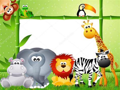 imagenes animales safari dibujos animados de animales de safari foto de stock