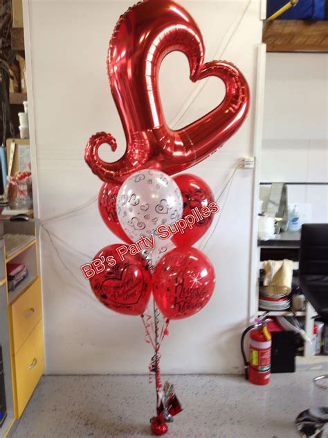 heart mylar balloon valentines balloons decorations diy