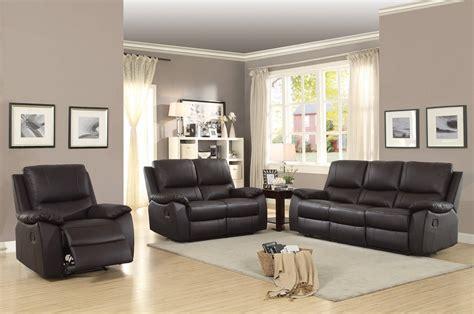 Brown Leather Recliner Sofa Set Homelegance Greeley Top Grain Brown Leather Reclining Sofa Set