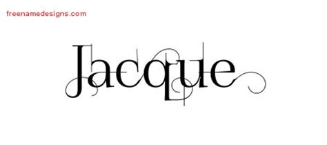 jacques tattoo font jacque archives free name designs