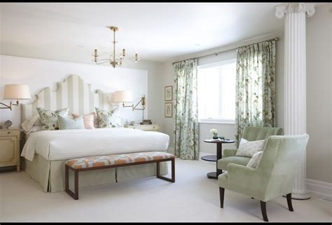 sarah richardson headboards white and green master bedroom with giant headboard